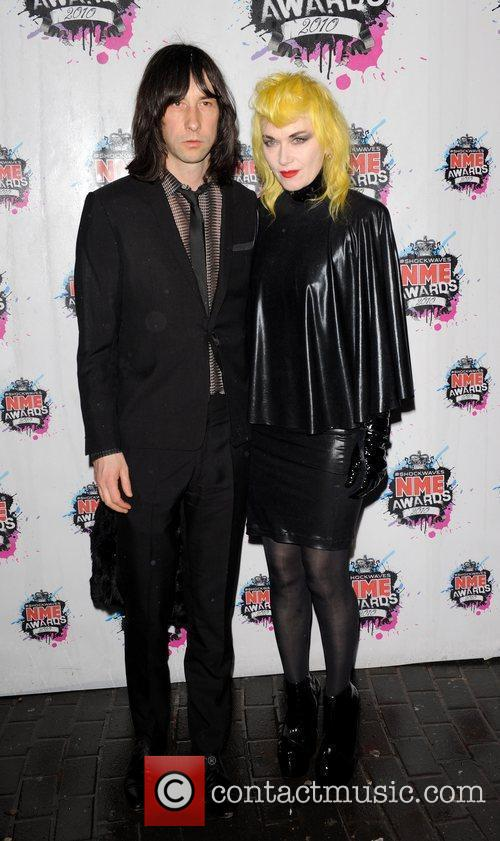 Bobby Gillespie and Pam Hogg Shockwaves NME Awards...