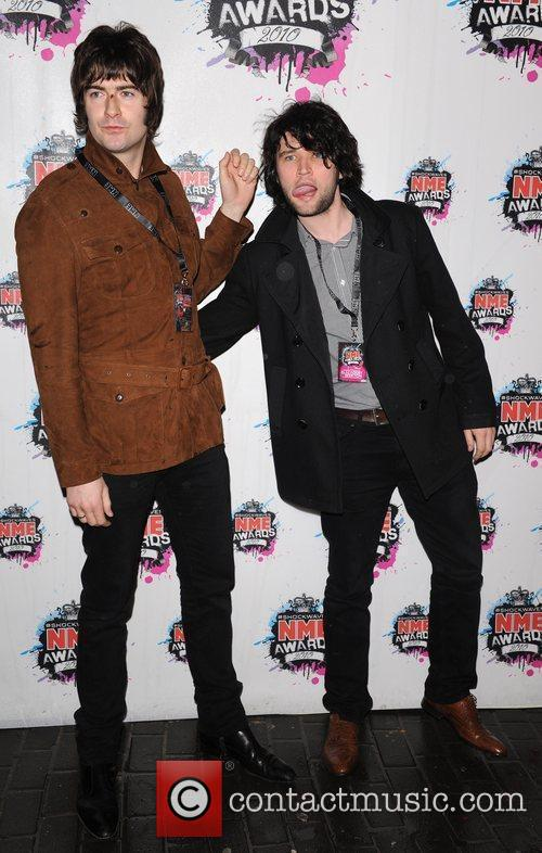 Liam Fray and Michael Campbell of The Courteeners...