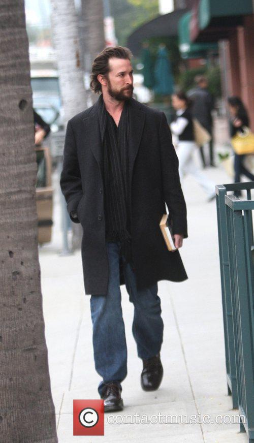 Noah Wyle gets coffee in Beverly Hills Los...