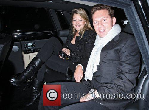 Holly Valance and Nick Candy leaving Nobu Park...