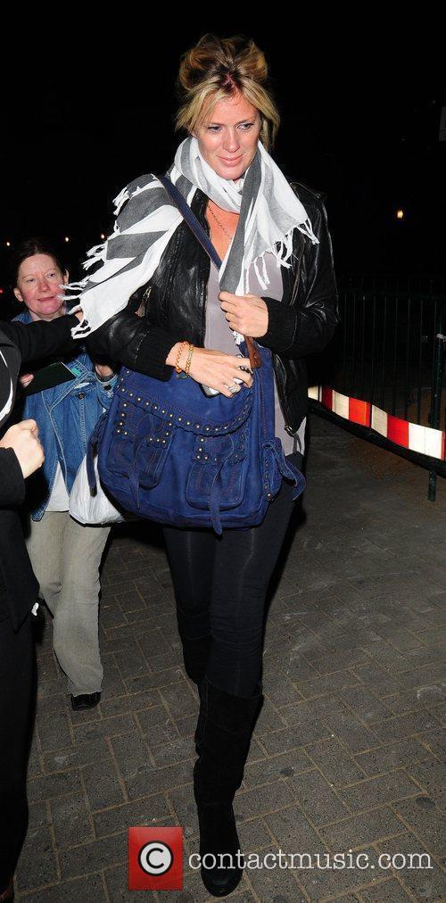 Rachel Hunter arrives at Nobu resaturant London, England