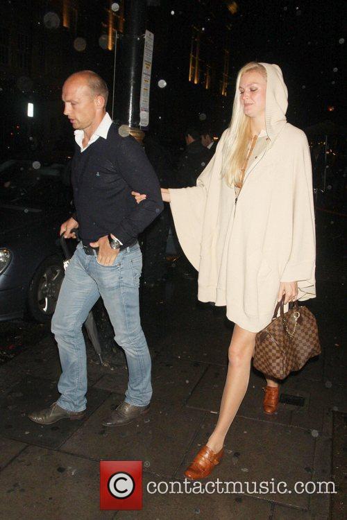 Celebrities leaving Nobu restaurant in London