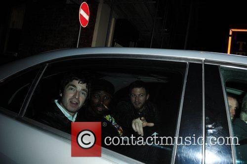 Noel Gallagher  leaving the Manchester Opera house...
