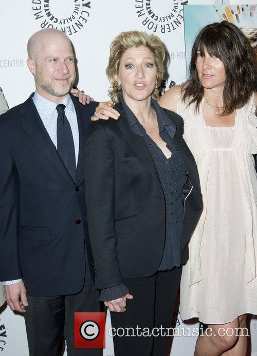 Eddie Falco (C), Eve Best (R) and Guest...
