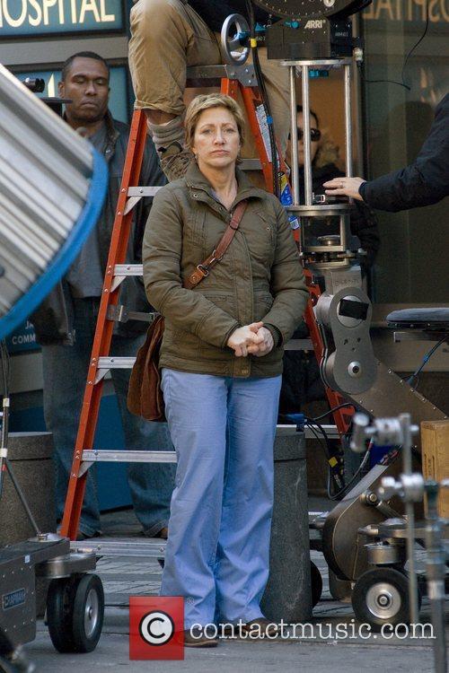 Filming on the set of  Nurse Jackie...