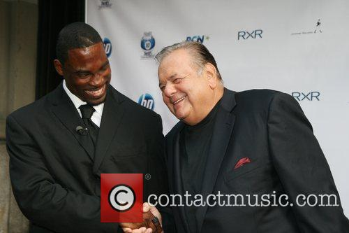 NY Giants Justin Tuck and Actor Paul Sorvino...