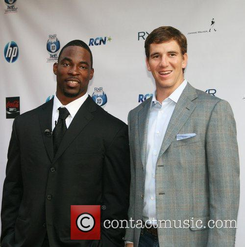 NY Giants Justin Tuck and Eli Manning...