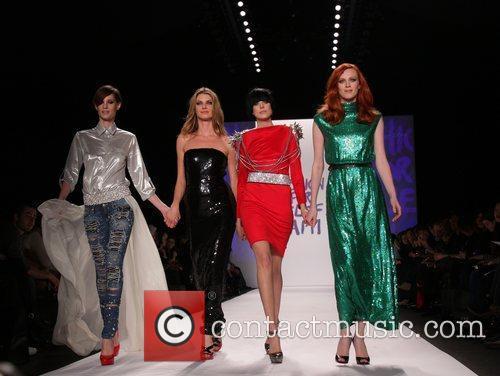 Angela Lindvall, Agyness Deyn and Karen Elson Mercedes-Benz...