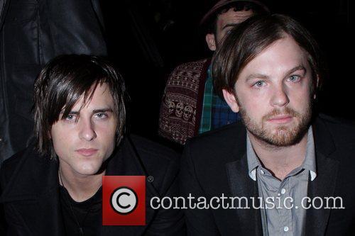 Jared Followill and Caleb Followill of Kings of...