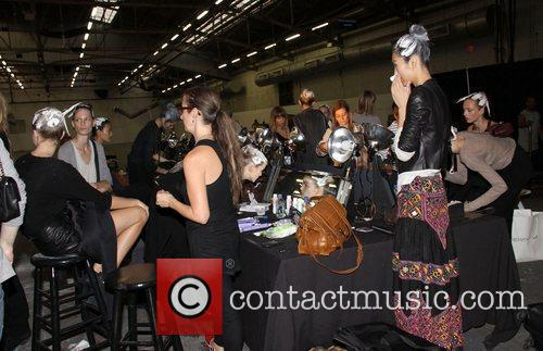 Models Mercedes-Benz IMG New York Fashion Week Spring/Summer...