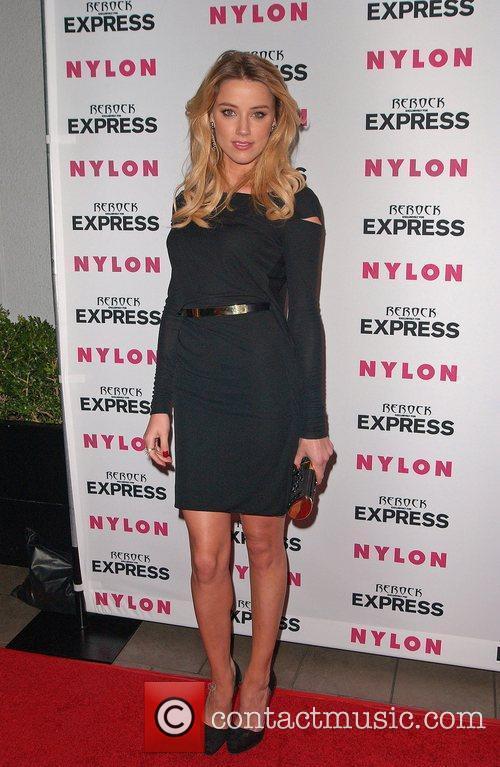 Amber Heard Nylon + Express August Denim Issue...
