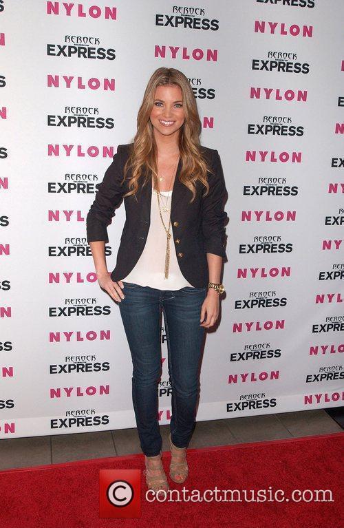 Amber Lancaster Nylon + Express August Denim Issue...