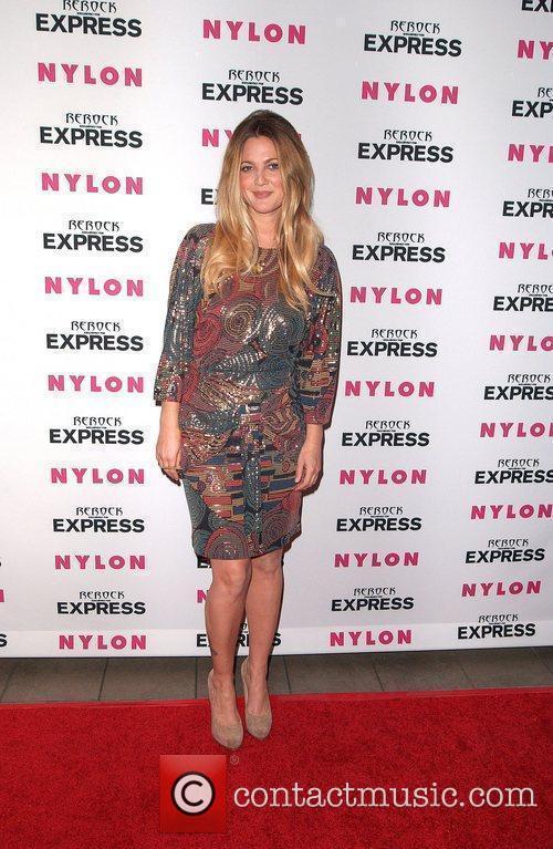 Drew Barrymore Nylon + Express August Denim Issue...