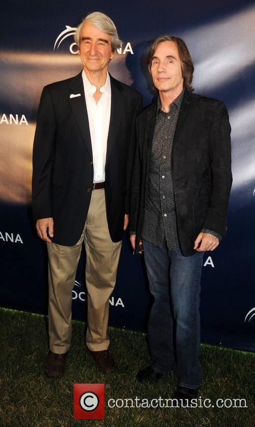 Sam Waterston and Jackson Browne 4