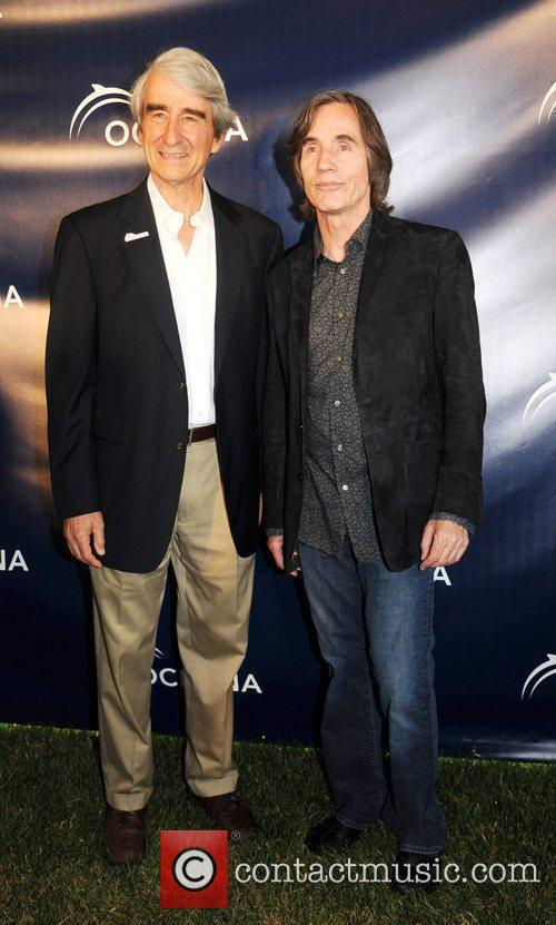 Sam Waterston and Jackson Browne 8