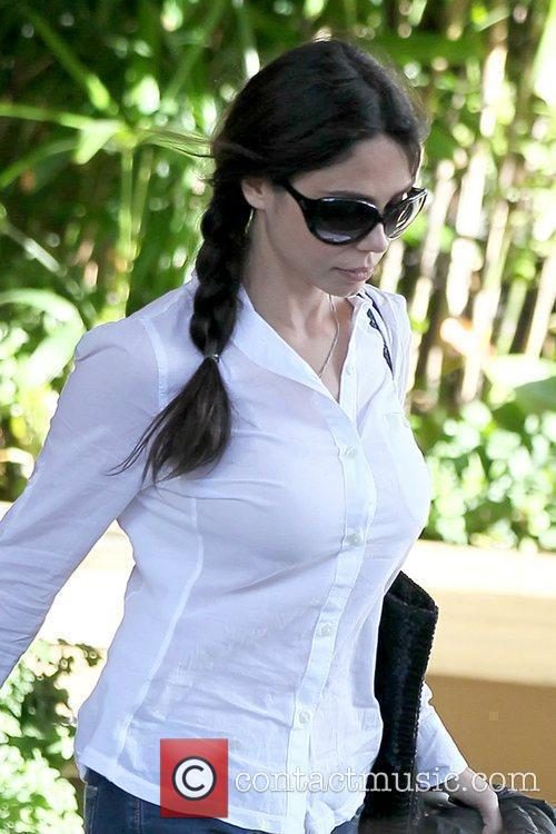 Ex-girlfriend of Mel Gibson, picks up her car...