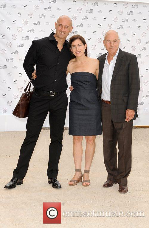 Patrick Stewart and guests Summer fundraising party for...