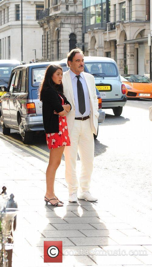 Oliver Stone with his daughter Tara The film...