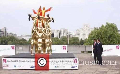 London 2012 Olympic Tourch Relay at the Southbank...