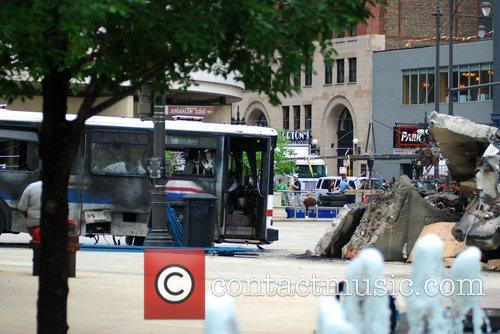 Atmosphere on the set of Transformers 3 Chicago,...