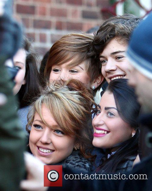 Harry Styles and fans 'The X Factor' finalists...