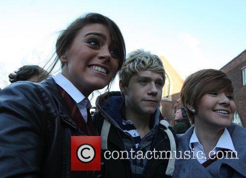 Niall Horan with fans 'The X Factor' finalists...
