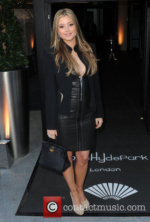 Holly Valance arriving for the One Hyde Park...