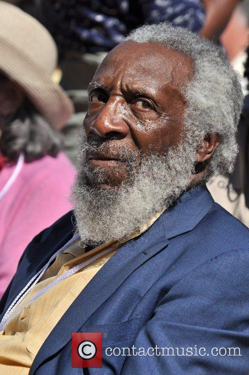 Dick Gregory attends the One Nation Rally at...
