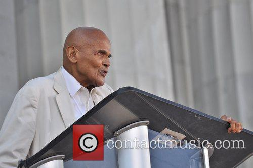 Harry Belafonte attends the One Nation Rally at...