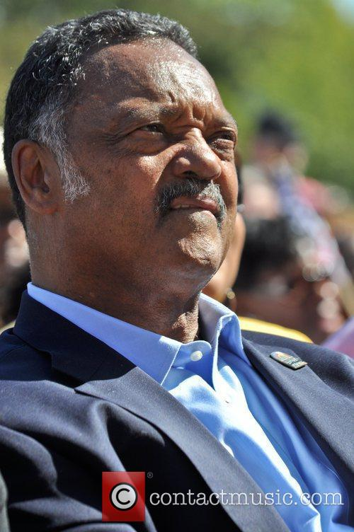 Jesse Jackson attends the One Nation Rally at...