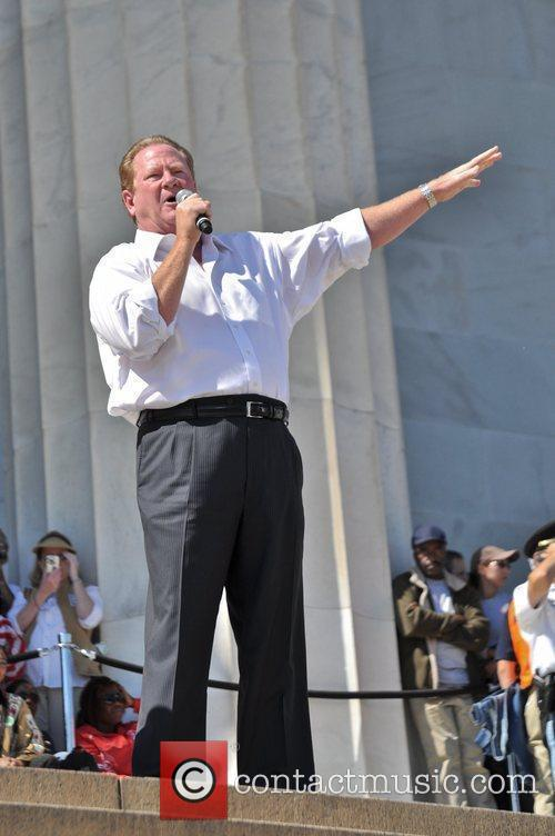 Ed Schultz attends the One Nation Rally at...