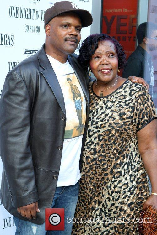 Reggie Bythewood and his mother, Caroline Bythewood at...