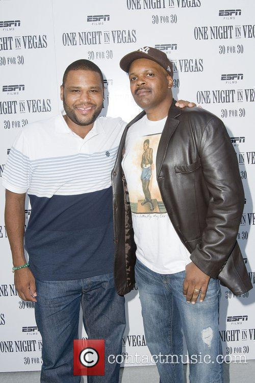 Anthony Anderson and Reggie Blythewood at the screening...
