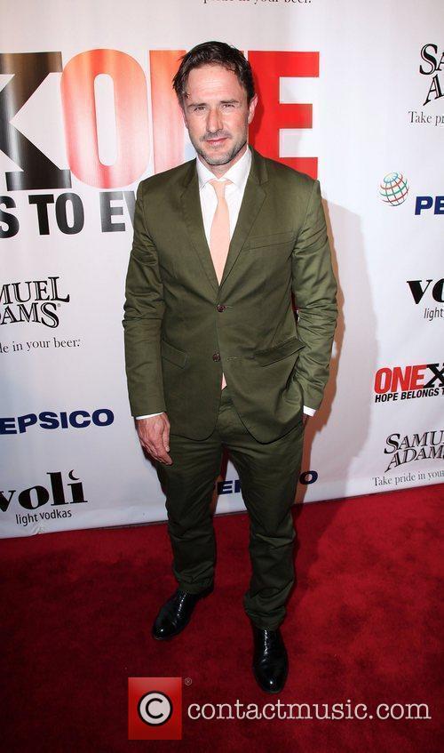 David Arquette,  at the 3rd annual fundraiser...