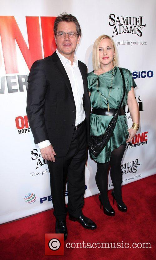 Matt Damon and Patricia Arquette,  at the...