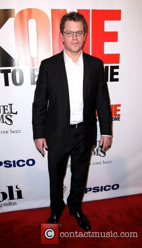Matt Damon,  at the 3rd annual fundraiser...