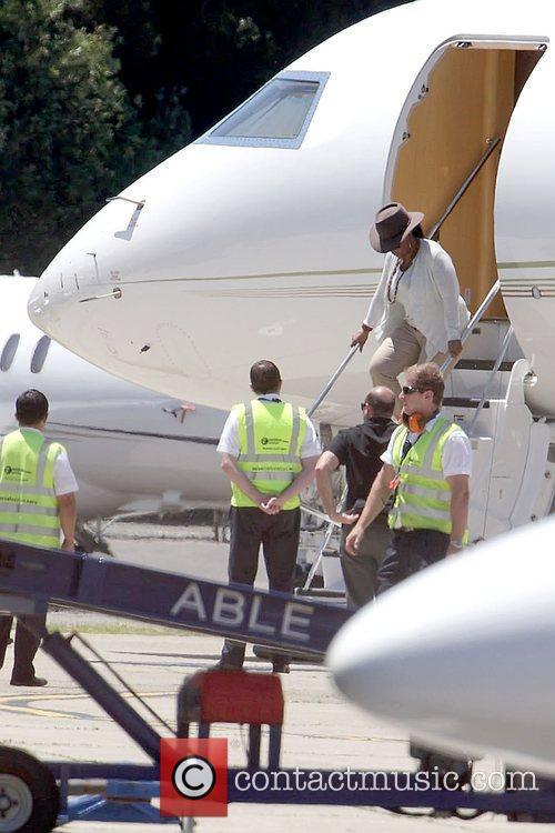 Oprah Winfrey arrives by private jet to Sydney...