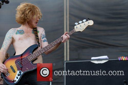 James Johnston of Biffy Clyro Optimus Alive! 2010...