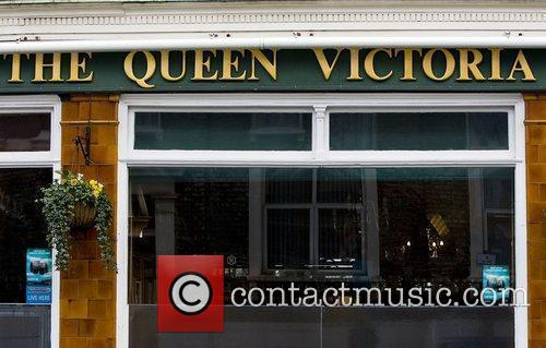 The Queen Victoria pub in London, which was...