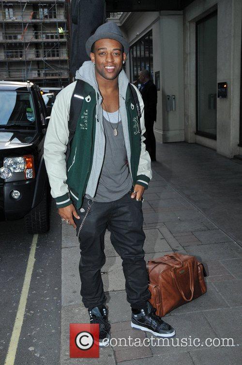 Oritse Williams of JLS outside a hotel in...