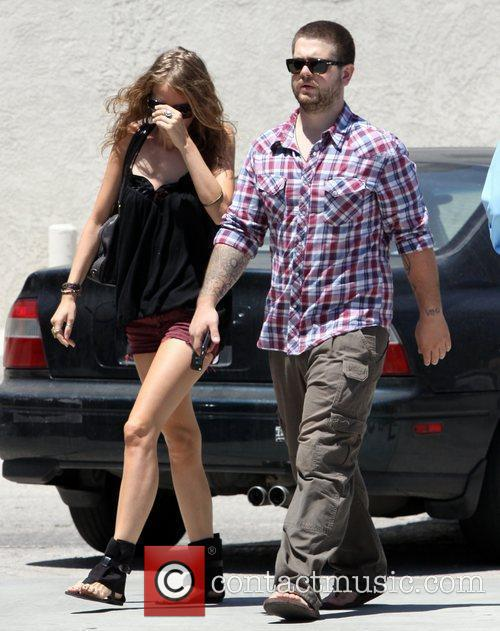 Departs California Chicken Cafe after having lunch with...