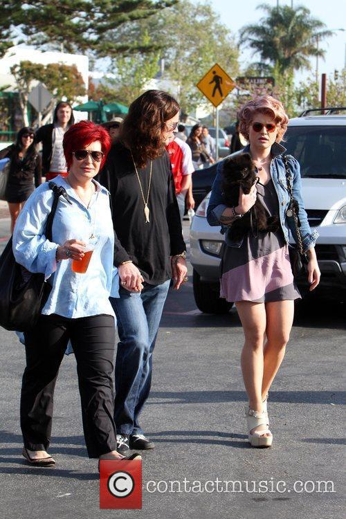 Sharon, Ozzy and Kelly Osbourne out at Cross...