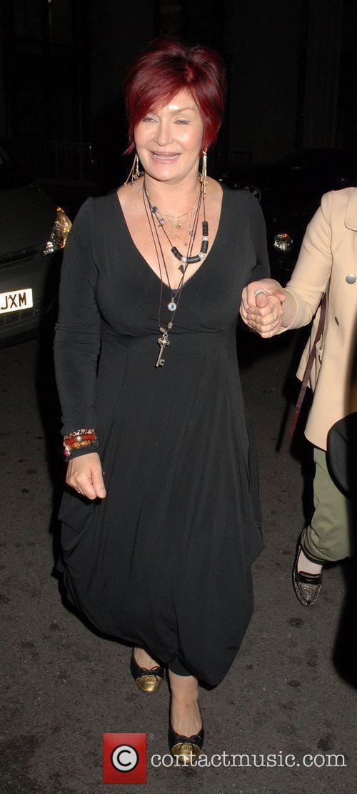 Sharon Osbourne outside The Dorchester Hotel in London