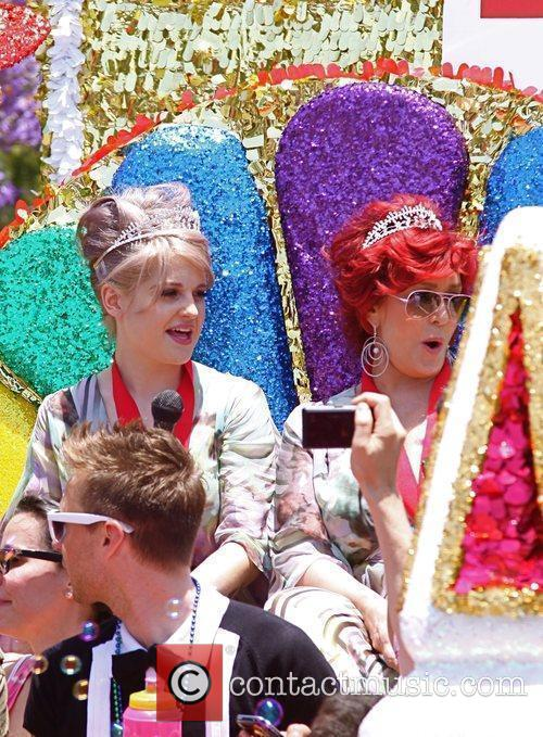 Kelly Osbourne and Sharon Osbourne appearing as the...