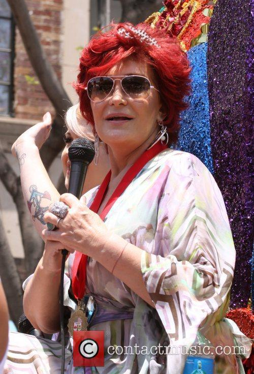 Sharon Osbourne as the Grand Marshalls on the...