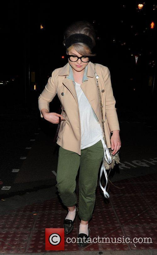 Kelly Osbourne outside the Dorchester Hotel
