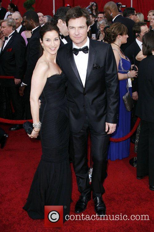 Jason Bateman and Amanda Anka The 82nd Annual...