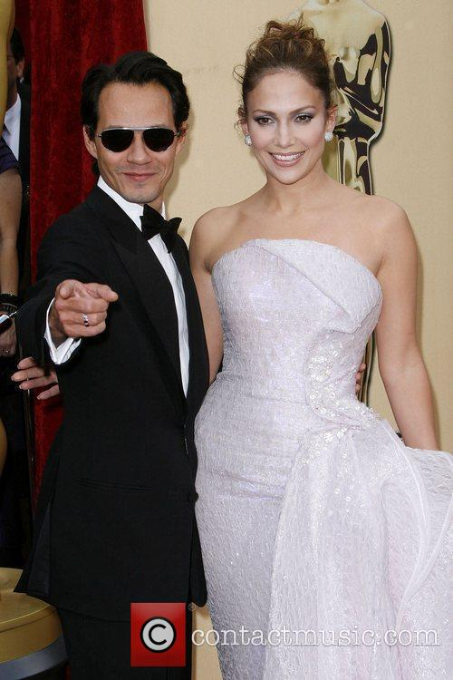 Jennifer Lopez and Marc Anthony The 82nd Annual...