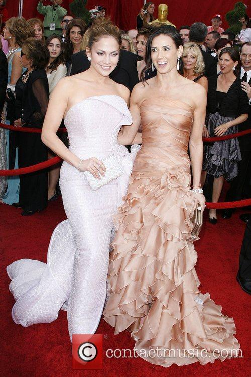 Jennifer Lopez and Demi Moore The 82nd Annual...