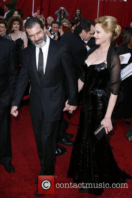 Melanie Griffith and Antonio Banderas The 82nd Annual...